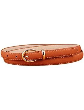Lumeidon Mujer Colores Del Caramelo Aguja Hebilla Cinturones Personalidad Salvaje Cinturón De Cuero Fina