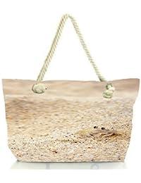 Snoogg Beach Sand Crab Women Anchor Messenger Handbag Shoulder Bag Lady Tote Beach Bags Blue