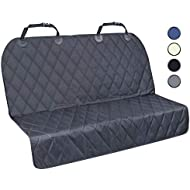 Vivaglory Dog Car Seat Covers, No-skirt Design Back Seat Protectors for Small & Large Cars, SUVs & MPVs, Quilted 600D Oxford Pet Seat Cover, Black, S