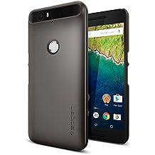 "Spigen Thin Fit 5.7"" Funda Gris - Fundas para teléfonos móviles (Funda, Huawei, Nexus 6P, 14,5 cm (5.7""), Gris)"