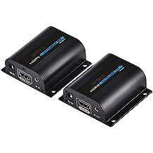 MPTECK @ HDMI extensor vía CAT 6 Cat6a Cat7 cable Amplificador HDMI Extender hasta 60M 1080P para HDTV Blue Ray DVD PS3 PS4 XBOX SDTV Proyector
