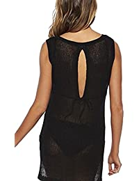 YACUN Mujer Traje de baño Beach Knit Vest Dress