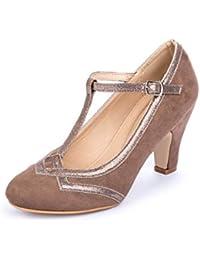 La Push Jara Zapato Tacón Mujer Marrón