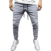 Cebbay Liquidación Pantalones de chándal para Hombres Pantalones Casuales Ropa de Deporte Bolsillo con Cremallera con cordón Ajustable Pantalones Calientes de otoño