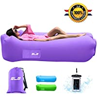 Inflatable Lounger, Waterproof Air lounger with Headrest, Leak-proof & Portable Air Sofa Couch, Fast Inflating Air Bed, Lazy Lounger for Backyard/Pool/Beach/Camping/- Hold Up To 500lbs