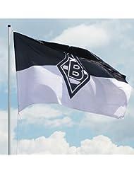 VFL Borussia Mönchengladbach Herren Borussia Mönchengladbach-Fohlenelf-Artikel-Hissfahne Nostalgie x Flagge, Mehrfarbig, 250 x 150 cm