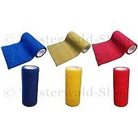Figo Bandage elastische selbsthaftende Haftbandage 10 cm x 2 m Rot preisvergleich bei billige-tabletten.eu