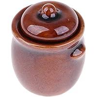 Homyl 1/12 Casa de Muñecas Miniatura Ollas de Porcelana Artículos para Muñecas