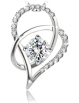 J.Rosée® Kette Damen Halskette Anhänger Schmuck 925er Sterling Silber 5A Zirkonia