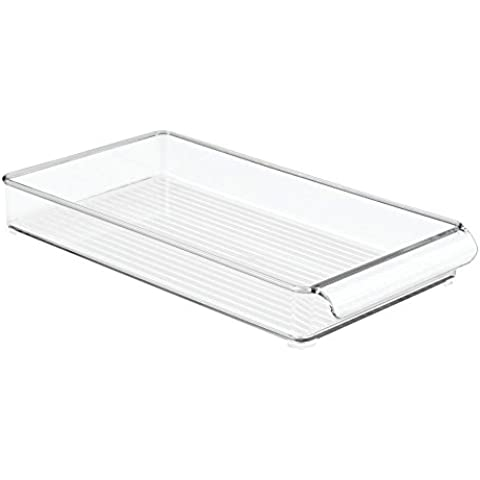 InterDesign Linus Fridge - Organizador, 20 x 37 x 5 cm, color transparente