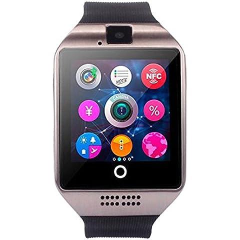 Q18 Orologio Intelligente Clode® Nuovo Q18 Bluetooth Intelligente Vigilanza Della Macchina Fotografica di Sostegno SIM per Smartphone Android (Colour : Agrento)