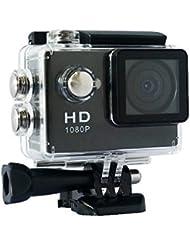 """YUNTAB Videocámara de Acción-5Mp pantalla de 2"""",Video de Alta definición 1080p, Sumergible hasta 30m, Incluye múltiples accesorios(color negro) (A9N)"""