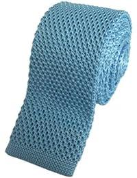 Aqua Blue Skinny Knitted Tie