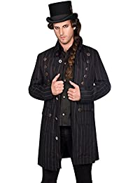 Aderlass Steampunk Coat Pin Stripe DE Black-Brown