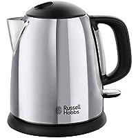 Russell Hobbs Victory 24990-70 - Hervidor de Agua Eléctrico, 1 L, Acero Inox, Detalles en Plásticos, 2200 W