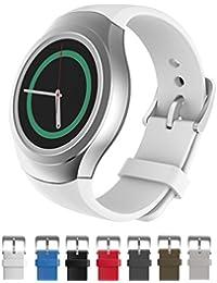 Dokpav® Bracelet de Montre Remplacement en Silicone Mat, Bande de Poignet Rechange pour Montre Intelligente Samsung Gear S2 Smart Watch Sport - Blanc