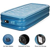 MARNUR Single Air Bed Inflatable Mattress - Blow Up Airbed with Built-in Electric Pump Carrying Bag for Home Travel Camping Storage Bag and Repair Patches Included(190x99x45cm)