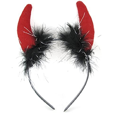 Water & Wood Red Double Buffalo Horn Decor Christmas Hair Hoop for Children