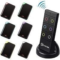 Key Finder, EIVOTOR Localizzatore Chiavi Wireless con 6 Ricevitore RF e Supporto Base Tracker Oggetti Cercatore Anti-Lost con Allarme Sonoro 80dB