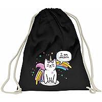 Damen Kinder 3D Katze Sportbeutel Beutel Rucksack Sporttasche Tasche Geschenk