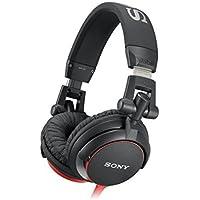 Sony MDR-V55 Cuffie Chiuso DJ, 105 dB, 40 Ω, Nero/Rosso