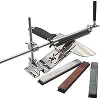 H&RB Acero Inoxidable Profesional Afilador De Cuchillos Herramienta Afiladora Máquina Accesorios Cuchillo Afilar Conjunto, 4 Piedras de áfilar, [Clase de eficiencia energética A]