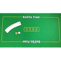 Enorme Texas Hold 'em Poker juego de fieltro con naipes y