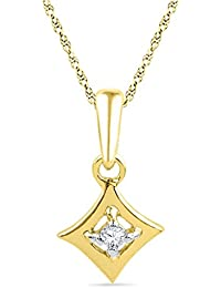 Sri Jagdamba Pearls 18K Yellow Gold and Diamond Pendant Necklace