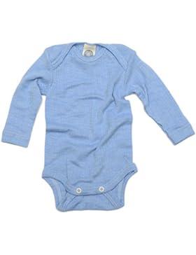 Cosilana–Body per neonato a maniche lunghe, 45% in cotone biologico, 35% lana merino biologica, 20% seta