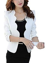 Betrothales Blazer Otoño Corto Colores Mujer Camisa Abrigos Oeste Sólidos Formal Botonadura Elegante Prendas Exteriores Slim