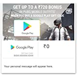 Get Upto 720 Bonus in PUBG Outfits||Get 10% Cashback||Google Play Gift Code - Digital Voucher