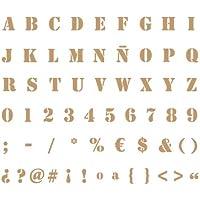 Stencil Deco Abecedario 007. Medidas aproximadas: Medida exterior del stencil: 20 x 30