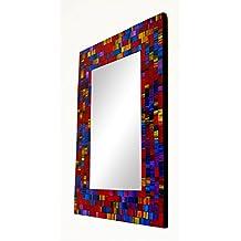 Grande geometrico mosaico Spectrum Specchio da parete 40x 30cm, Ceramica, Mosaic, 25 x 20 cm