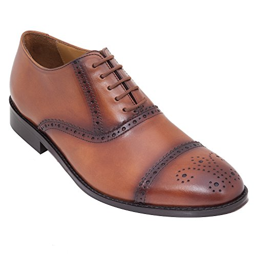 WAYNE WRIGHT Handmade Formal Oxford Brogue Shoe In Real Calf Leather (Lace Ups)/leather Shoes Mens For Men In...