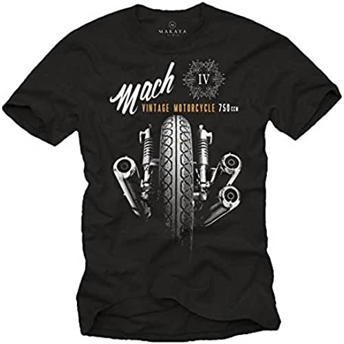 dia del orgullo friki Camisetas Moteras - Vintage Moto Mach 4 Hombre