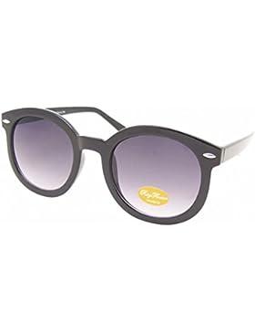 Occhiali da sole di fascino intorno dorato XL oversize John Lennon-stile colorato 400UV vintage