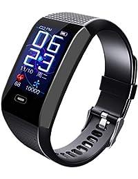 Clacce G26S Fitness Tracker Uhr Bluetooth Smart Uhr Armband Armband Schrittzähler Sport Fitness Tracker Überwachung Smart Watch Monitor Schritt Kalorien Schlaf Sport Smart Band (CK28, Schwarz F)