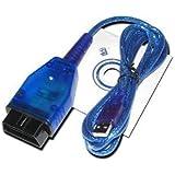 USB OBD2 OBD-II VAG KKL Câble pour VW Audi Skoda 409,1