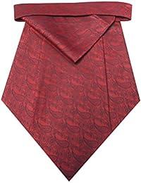 Riyasat - Red Color Paisley Design Micro Fiber Cravat with Pocket Square (C_0061)
