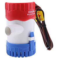 Homyl 1 Pedazo Mini Bomba de Agua de Sentina de Barco Eléctrica 12V 350GPH Plástico