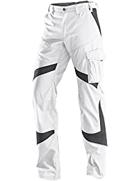 """kubler 22505365–1097–46–talla 46""""activiq Pantalón para hombre, color blanco/gris"""