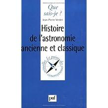 Histoire de l'astronomie ancienne et classique
