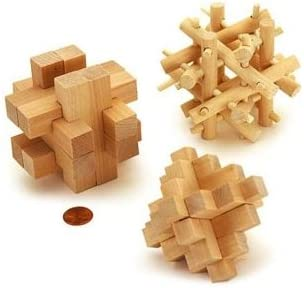 Brain Benders 3D Puzzles Solid Wood 3 Different Cardinal by by by Brain Benders | Outlet Store