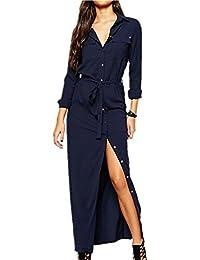 Suchergebnis auf f r kleid lang mit schlitz blau bekleidung - Kleid lang mit schlitz ...
