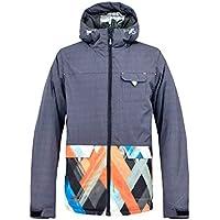 Jiuyizhe Chaqueta de esquí para Hombre Chaqueta Impermeable para el Viento Mountain Chaqueta Impermeable para la Lluvia (Color : Black, Size : XXL)
