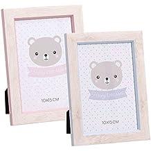 Dcasa - Pack 2 Portafotos diseño infantil ositos tamaño ...