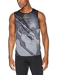 Luanvi Sm Cro Thunder Camiseta, Hombre, Negro / Naranja, L