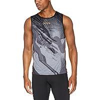 Luanvi Thunder - Camiseta de deporte sin mangas, Hombre, Negro y Naranja,2XS
