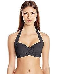 Seafolly Twist Soft Cup Halter, Parte de Arriba de Bikini para Mujer