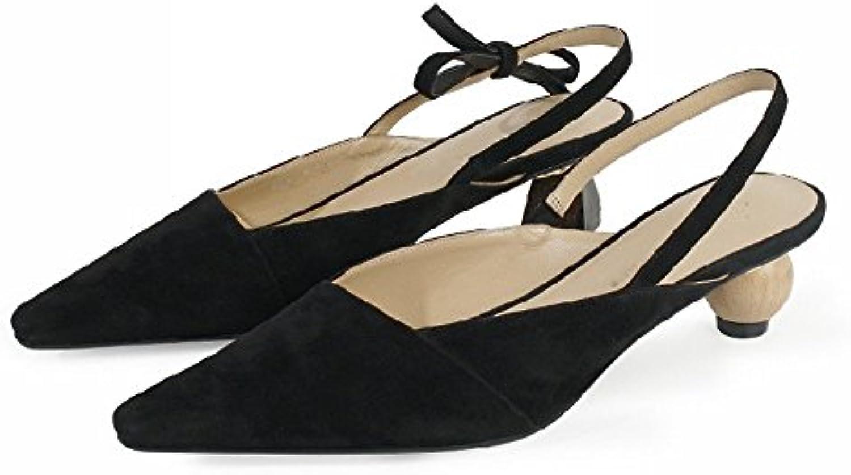 NSX Wild Geometry Asymmetrical Tips con Baotou Baotou Baotou Sandals,Nero,35 | Area di specifica completa  | Uomo/Donna Scarpa  5c2152
